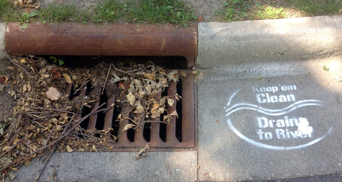 storm drain stencil