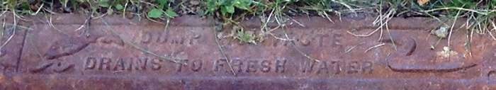 embossed drain sewer message