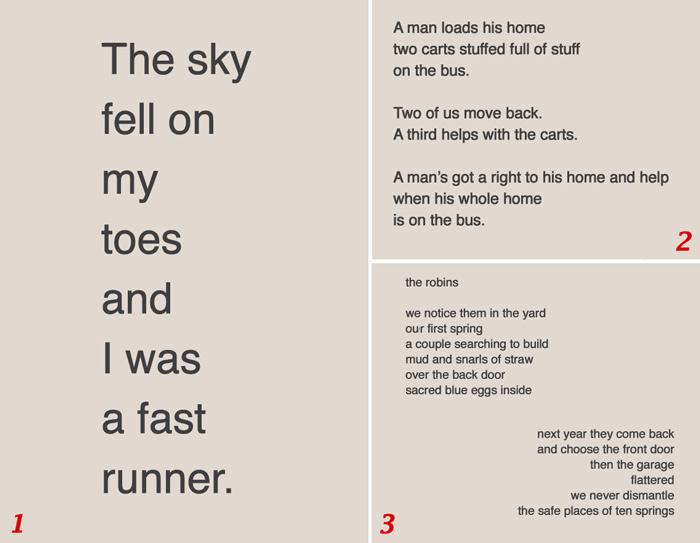 text of sidewalk poems