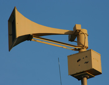 outdoor warning siren