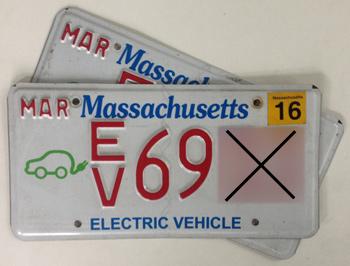 Massachusetts EV plates