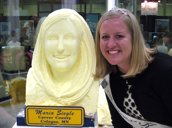 Princess Kay and butter sculpture