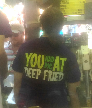 deep fried server's tee shirt