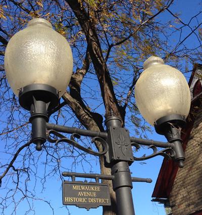 Milwaukee Avenue Historic District sign