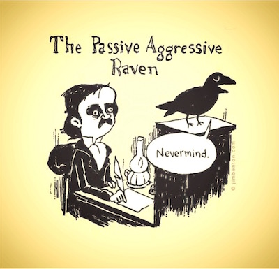 Passive-aggressive raven: drawing by James Benson
