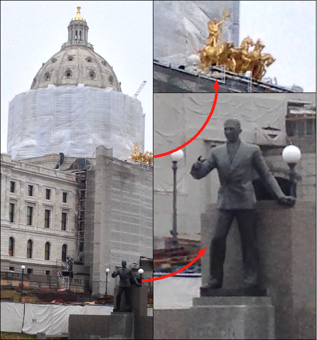 wrapped capitol building