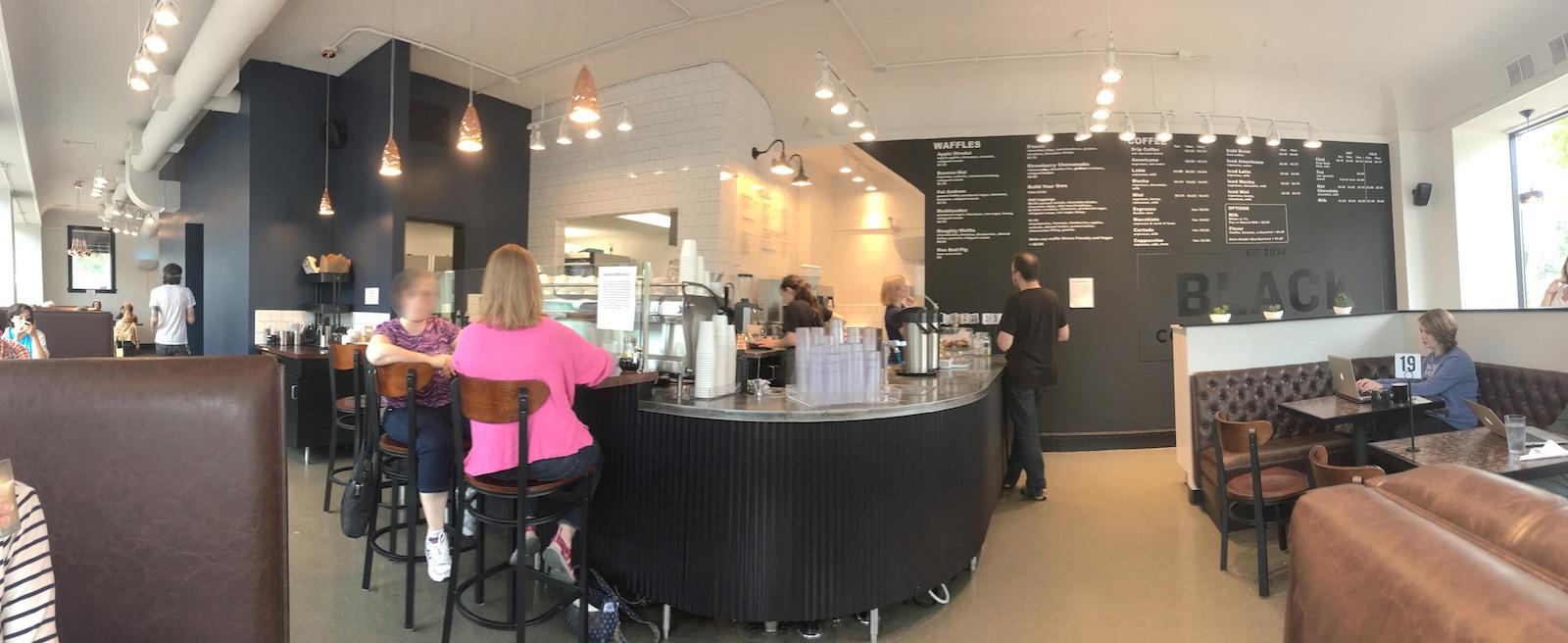 black coffee panorama