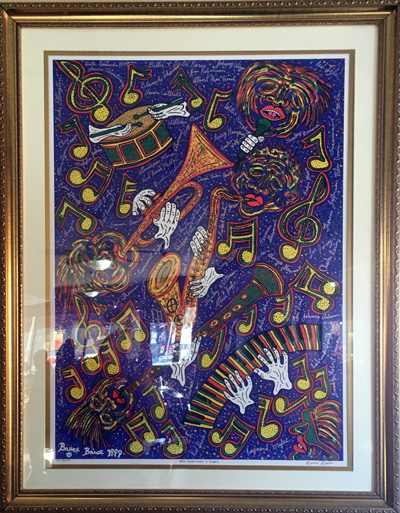 Example of Golden Thyme jazz-themed artwork