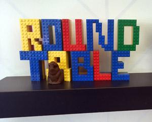 Roundtable logo expressed in Lego bricks