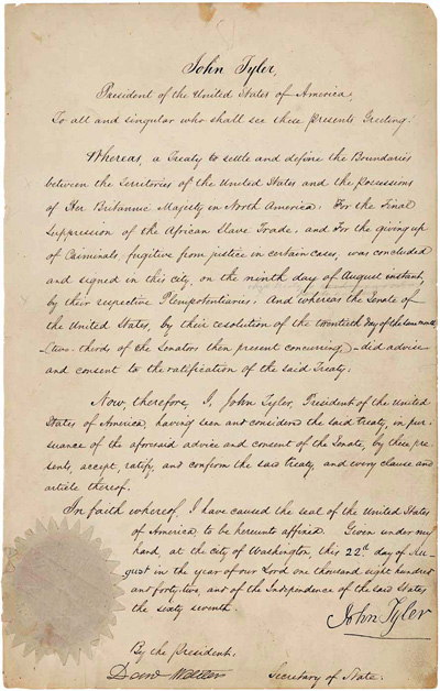 The Webster-Ashburton Treaty of 1842
