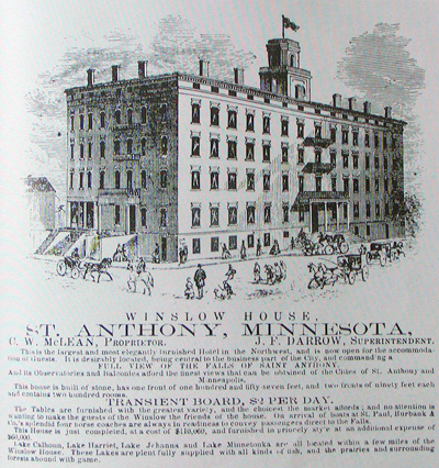 Advertisement for Winslow House