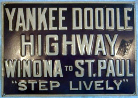 Yankee Doodle Highway sign